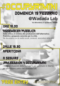 In movimento. Benefit for OccupyRimini al Wadada!