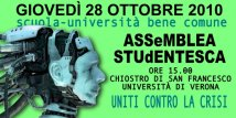 Verona. Assemblea studentesca all'Università