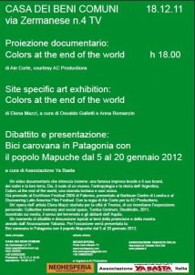 "Treviso - Incontro pubblico e  proiezione documentario  ""Colors at the end of the world"""