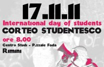 RIMINI - CORTEO STUDENTESCO. International day of students!